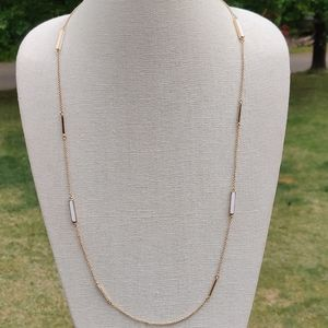 Kate spade gold and white necklace